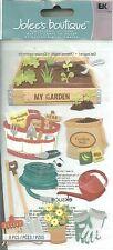 Gardening Garden Water Hose Rake Shovel Spade Box Soil Plant Seed Jolee Stickers