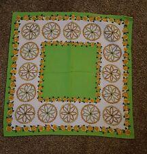 Nasharr Freres, Ltd. green, yellow & white floral SCARF EUC