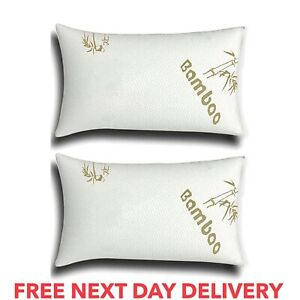 Bamboo Memory Foam Pillows Orthopaedic Extra Support Firm Bed Neck Back Comfort