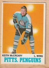 HOCKEY CARD NHL 1970-71 KEITH McCREARY  PITTSBURG PENGUINS OPC #93