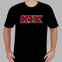 New KIX Logo Glam Rock Band Legend Men's Black T-Shirt Size S to 3XL