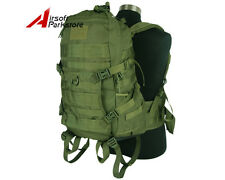 45L Tactical Military Molle 1000D Combat Backpack Rucksack Camping Hiking Bag OD