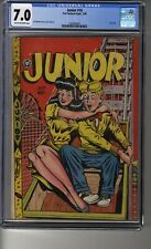 Junior (1947) # 16 - CGC 7.0 Tan/Off-White Pages - Classic Headlights Cover