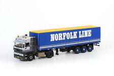 WSI 06-1013, DAF 3300 4x2 CAB WITH CURTAINSIDE TRAILER, NORFOLK LINE, 1:50 SCALE