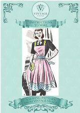 Vintage  sewing pattern-make a 1940s,50s wartime utility apron-full size pieces
