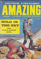 SEPT 1958 - AMAZING STORIES - vintage science fiction  pulp magazine