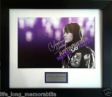 JUSTIN BIEBER NEVER SAY NEVER SIGNED AND FRAMED PHOTO