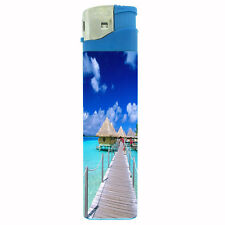 Jumbo Size Huge Big Giant 6.5 inch Electronic Lighter Ocean Views Design-001