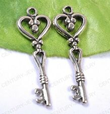 NP844 Lots 10pcs tibet silver key charms pendant 42MM