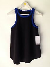 CAMILLA AND MARC Starling blue and black tank Top Size 8 BNWT RRP$300