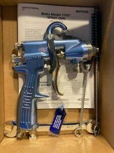 Binks 2100 Pressure/Suction Feed Conventional Spray Gun