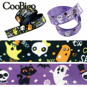 1 Yard Halloween Grosgrain Ribbon for Party Gift Wrapping Hair Bow Decor 25mm