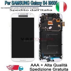 Per SAMSUNG Galaxy S4 I9505 i9500 SCHERMO Display LCD Touch Screen Frame Bianco