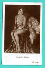 MOVIE STAR JOSEPHINE BAKER # 5068 SEMI NUDE VINTAGE PHOTO POSTCARD 382
