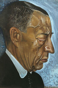 Portrait of Sergei Rachmaninoff Russian Composer Boris Grigoriev 7x5 Inch Print