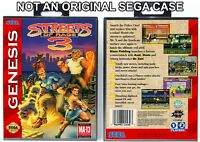 Streets of Rage 3 - Sega Genesis Custom Case *NO GAME*