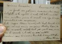 1920 57) AUTOGRAFO DEL GIORNALISTA POETA E SCRITTORE DI SOLAROLO MARIO MARIANI