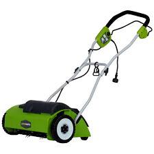 Electric Lawn Dethatcher 14in Garden Grass Root 10Amp Motor Power Tool Corded