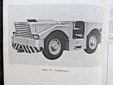 INTERNATIONAL HARVESTER HOUGH T-180F PAYMOVER TRACTOR AIRPORT TOW MOTOR MANUAL