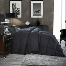 Luxurious All-Season Goose Down Comforter Twin Size Duvet Insert, Classic Black,
