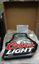 **NEW IN BOX** Coors Light Lighted Beer Sign Aluminum Pint **FREE SHIPPING**