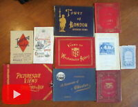 London England lot x 10 tourist brochures travel pamphlets booklets views