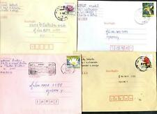 Thailand x 4 Covers With Flower Stamps #C47177
