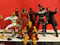 Marvel Legends Daredevil Elektra Bullseye Punisher Hell's Kitchen Lot Netflix