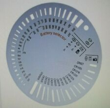 Circular Battery Size Selector 4 Watch and Coin Lithium coin range White Plastic