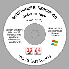 BITDEFENDER rescue disc restore disk hard drive diagnostics antivirus windows