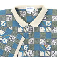 "VTG 90s Inn of the Mountain Gods Men XL 48"" Golf Polo Shirt Abstract Tribal"