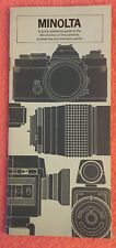 Vntg 1960s-1970s Minolta Quick Reference Guide to Line of Cameras & Accessories