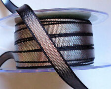 3/8 inch wide silver/black metallic ribbon price for 3 yard