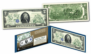 1914 Series $100 Ben Franklin FRN designed on modern Genuine $2 U.S. Bill