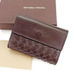 Bottega Veneta Card Case Intrecciato Brown Woman unisex Authentic Used S546
