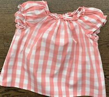 Bonpoint Nwot Girls Checked Shirt Size 2 Ss18.