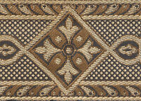 """Cappuccino  Gold  2 3/8"""" Wide Jacquard Trim Medieval Style Vestment Sewing 3 Yds"""