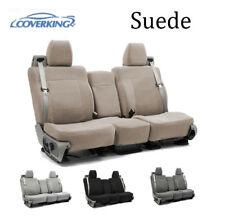 Coverking Custom Seat Covers Suede Front and Second Row - 4 Color Options