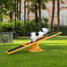 PawHut 1.8m Wooden Pet Seesaw Activity Sport Dog Training Agility Obedience Toy