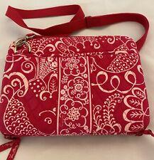 Vera Bradley Twirly Birds Pink White Mini Laptop Bag Case
