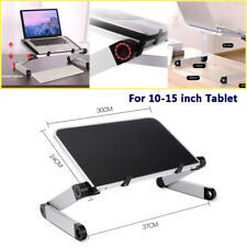 Adjustable Laptop Notebook Table Stand Tray Lazy Foldable Computer Desk Aluminum
