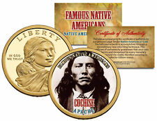COCHISE *Famous Native Americans* Sacagawea Dollar Colorized Coin APACHE Indians