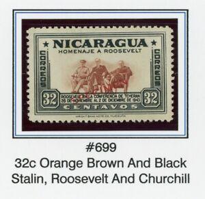 Nicaragua MNG FDR SPECIMEN Specialized: Scott #699 32c Thin Font $$$