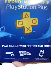 Sony Playstation Plus 3Months Subscription Card