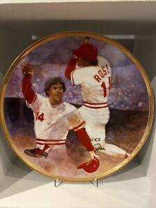 1988 Pete Rose Diamond Collection Plate /950 Autographed Signed Cincinnati Reds