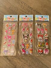3 x very cute sticker pack of my melody, kuromi & other sanrio character anime