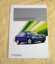 Vauxhall Astra SE1 Coupe brochure May 2001, special edition