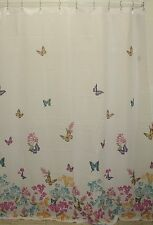 Butterfly Fabric Shower Curtain Butterflies Multi-Color 70x72 Bathroom Tub