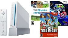 Nintendo Wii Sports Bundle Console System Lot W/ New Super Mario Bros & Galaxy !