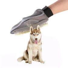 Pet Bath Brush Dog Cat Massage Grooming Hair Cleaning Glove Comb Double Side Che